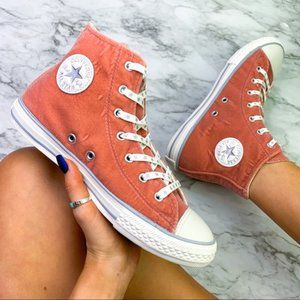 Converse Chuck All Star Pink Suede Hi Sneaker